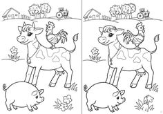 Fun Worksheets For Kids, Activities For Kids, Farm Animals, Animals And Pets, Dancing Raisins, Snoopy, Comics, School, Children