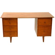 Double Pedestal Planner Group Desk by Paul McCobb | From a unique collection of antique and modern desks at http://www.1stdibs.com/furniture/storage-case-pieces/desks/