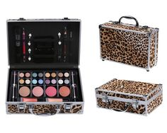 Cameo Cosmetics Premium 51pc Beauty Case Make Up Set with Reusable Aluminum Leopard Case - Eyeshadows, Lipsticks, Blushers, Lip Glosses, Brushes, Mirror Box, Applicators, Pencils -- Click image for more details. (Note:Amazon affiliate link)