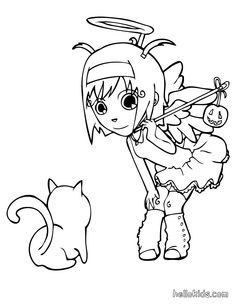 bratz halloween coloring pages - Free Large Images