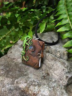 Libro encantado labradorita collar  Wicca Pixie Elf bosque