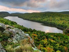Lake of the Clouds in the Porcupine Mountains, Michigan. Would love for the kids to see it too someday!
