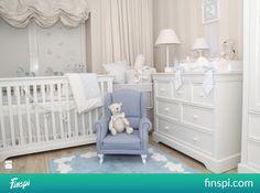Pokój dziecka - Styl Tradycyjny - Studio Caramella #wnętrze Cribs, Kids Room, Toddler Bed, Sweet Home, Nursery, Studio, Baby, Furniture, Home Decor