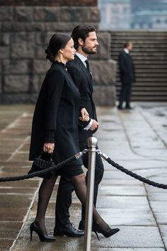 Princess Sofia and Prince Carl Philip of Sweden attend the city of Stockholm's official ceremony for the victims of the recent terrorist attack on April 10, 2017 in Stockholm, Sweden.