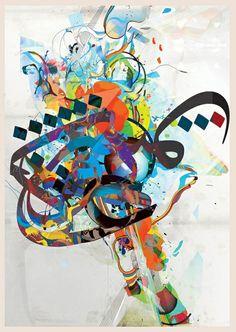 Arabic full of colors. Wonderful calligraphy