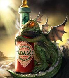 Imagem de dragon, tabasco, and baby