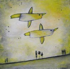 love birds - fly