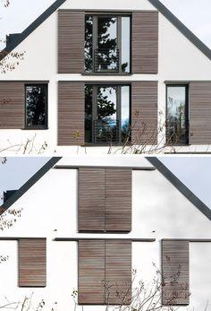 Ideas For House Exterior Modern Shutters Modern Shutters, Cedar Shutters, Vintage Shutters, Rustic Shutters, Modern Windows, Contemporary Shutters, Modern Blinds, Outdoor Window Shutters, Interior Window Shutters