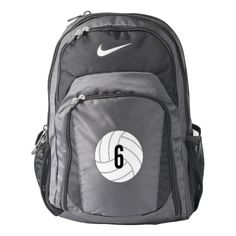 Shop Cooke Main Logo Nike Backpack, Black/Gray Backpack created by CookeSchoolNYC. Personalize it with photos & text or purchase as is! Volleyball Gear, Volleyball Outfits, Volleyball Players, Coaching Volleyball, Volleyball Pictures, Beach Volleyball, Volleyball Accessories, Volleyball Jewelry, Volleyball Sweatshirts