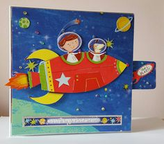 Today I'm sharing a kinetic rocket card I have made for my youngest son's birthday in a few weeks. Hunkydory Crafts, Hunky Dory, Sons Birthday, Out Of This World, Little Books, Kids Cards, Boy Or Girl, Card Making, Abs