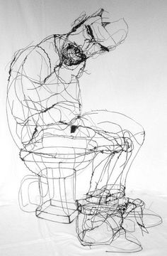 David Oliveira, wire sculpture, drawing in space
