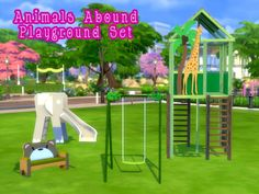 Consists of swing, slide, couch and tower.  Found in TSR Category 'Sims 4 Sets'