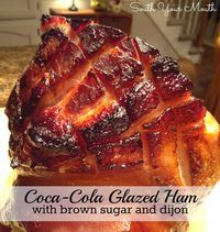 Classic cola-cola glazed ham with brown sugar and dijon that self-bastes in an oven bag for a super easy, super special baked ham.