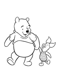 piglet and pooh bear Colouring Pages