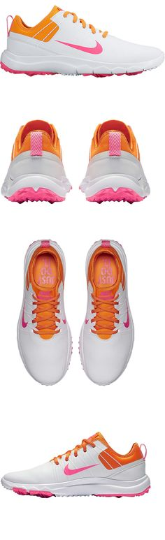 Golf Shoes 181147: Womens Nike Golf Fi Impact 2 Spikeless Shoes Size 7, 8 And 8.5 White Pink Orange -> BUY IT NOW ONLY: $44 on eBay!