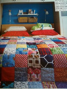 home made quilt featured in Ikea magazine