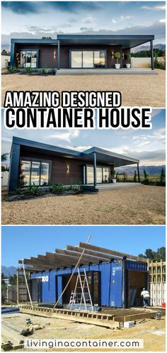 Home Design, Glass House Design, Modern Small House Design, Wooden House Design, House Front Design, Tiny House Design, Küchen Design, Sea Container Homes, Building A Container Home