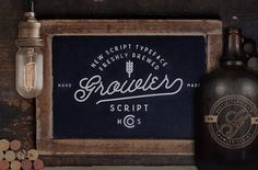 The Growler Script typeface is a freshly brewed font from Hustle Supply Co. Growler Script is the first font release from Hustle Supply Co. Cursive Script, Script Typeface, Handwritten Fonts, Brush Script, Calligraphy Fonts, Typography Fonts, Modern Calligraphy, Creative Market Fonts, Hand Drawn Fonts