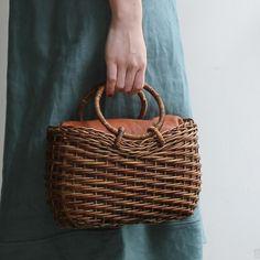 [Envelope Online Shop] circular basket bag with ring handles ACCESSORIES Bags