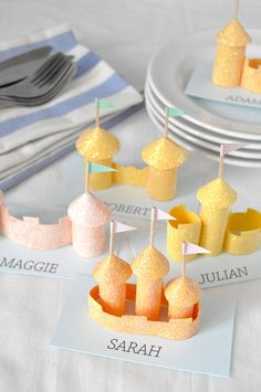 Sandcastle Place Cards   Oh Happy Day!