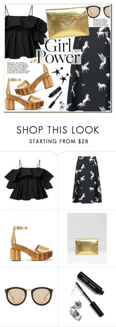 """""""What's Your Power Look?"""" by leathersatchel ❤ liked on Polyvore featuring MSGM, Sugarhill Boutique, Tory Burch, The Leather Satchel Co., Le Specs, Bobbi Brown Cosmetics, ASOS and MyPowerLook"""