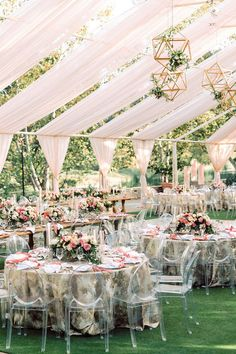 Spring Wedding Inspiration Contemporary Tented Wedding In Blush Palette Accented With Metallics backyard wedding Accented backyard wedding reception tent Blush Contemporary Inspiration Metallics Palette Spring Tented Wedding Wedding Reception Ideas, Outdoor Wedding Decorations, Wedding Receptions, Wedding Themes, Wedding Events, Reception Design, Wedding Locations, Outdoor Tent Wedding, Wedding Aisles