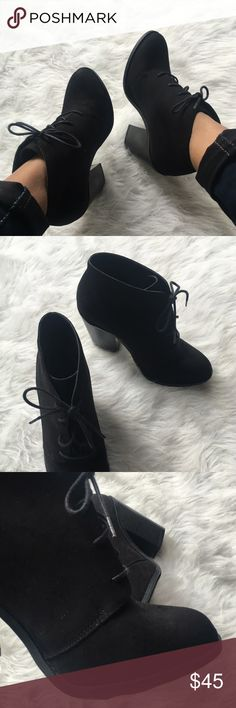 ⚡️⚡️FLASH SALE!⚡️⚡️ Call It Spring Lace-Up Booties New! Never worn outside! Call It Spring Lace-Up Ankle Booties. Super stylish booties with shoe laces. Thick heel and rounded toe. 💋 Happy Poshing! (x trade) Call It Spring Shoes Ankle Boots & Booties