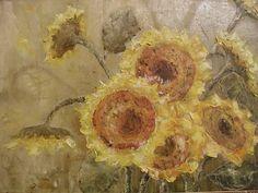 подсолнухи - Изобразительное искусство - Масло, акрил