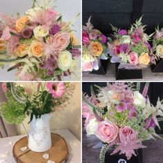Pastel and peach flowers for wedding celebrations Peach Flowers, Celebrity Weddings, Celebrations, Wedding Flowers, Floral Wreath, Barn, Pastel, Wreaths, Decor