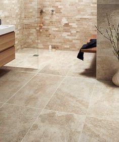 Marble bathrooms 407364728794718446 - Ideas for creating a truely luxurious bathroom. Bathroom chandelier, hanging plants, underfloor heating, marble and natural. Beige Tile Bathroom, Cream Bathroom, Bathroom Floor Tiles, Bathroom Renos, Bathroom Wall, Modern Bathroom, Bathroom Carpet, Wall Tile, Bathroom Ideas
