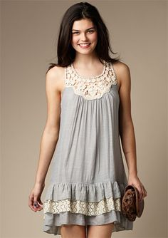 Crochet Drop-waist dress from #Delias
