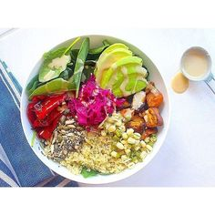 Oh, WOW! Take a look at this ULTIMATE abundance bowl by @consciousclaire on the 8-Week Program. Bursting with rainbow goodness and tasty nutrition. – I Quit Sugar