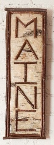 Our birch and twig signs are made by a gifted woodworker in Maine. Choose from the ones here, or let us make a custom sign for you. Birch Wedding, Rustic Wedding, Maine, Twig Furniture, Camping Signs, Diy Camping, Affordable Vacations, Camping Parties, Birch Bark