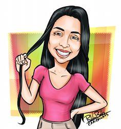 Caricatura, desenho, Ilustração, Cartoon, Morena, Menina, cabelo.