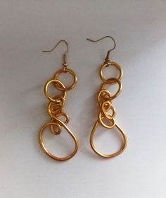 Gold Earrings---TRJ