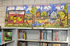 A mural at Queens Library at South Jamaica