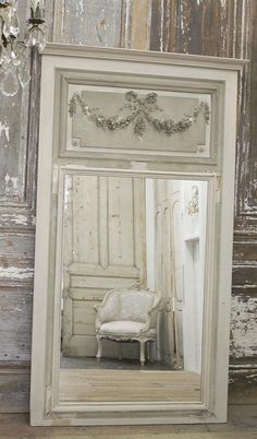 Antique French Tremeau Mirror from Full Bloom Cottage