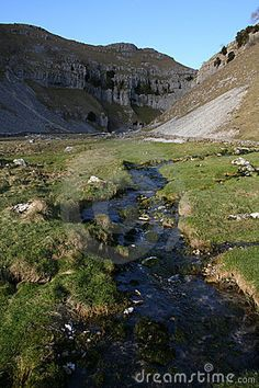 Valley in Yorkshire Dales near Malham