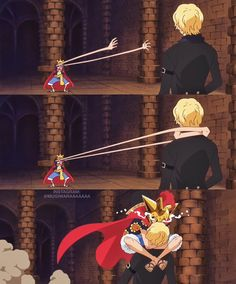 Luffy and Sabo #ASL come visit my board it is called ''one piece anime'' it has collections of couples, gender bends, gifs and more