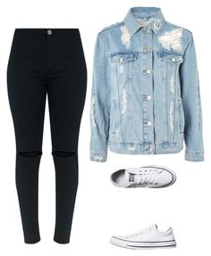 """outfit"" by vicky-skoufh on Polyvore featuring Converse, Topshop and Beauty"