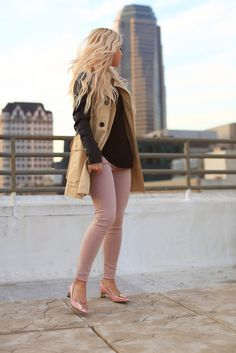 Trench & Blush skinnies.