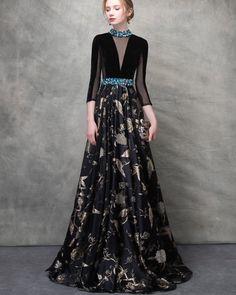 Sexy Prom Dress, Floor Length Evening Dress ,o Neck Party Dress,party Gowns , Evening Dress Black Evening Dresses, Black Prom Dresses, Elegant Dresses, Evening Gowns, Beautiful Dresses, Dress Black, Backless Dresses, Black Gowns, Floral Dresses