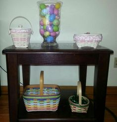 Easter and Pink Longaberger baskets.