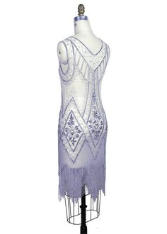 Silver 20s style dresses