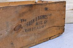Vintage Wood Crate Large Wooden Crate Chicago
