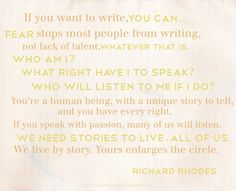 If you want to write, you can...a quote by Richard Rhodes