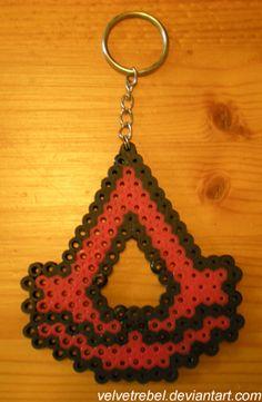 Assassin's Creed Keychain - Perler Beads by VelvetRebel.deviantart.com