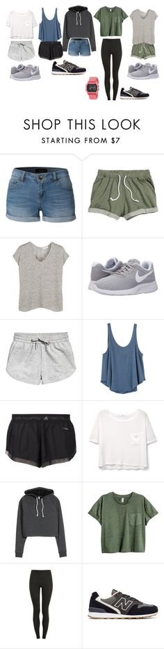 """Untitled #93"" by lauracruzsoriano-2 on Polyvore featuring LE3NO, rag & bone, NIKE, RVCA, adidas, MANGO, H&M, Proskins, New Balance and Rip Curl"
