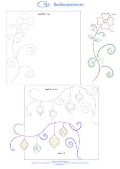 Flower & Christmas designs;  Could use as a tin punch pattern.
