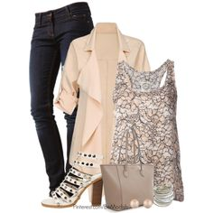 A fashion look from March 2014 featuring PINK MEMORIES tops, MUSTANG jeans and Call it SPRING sandals. Browse and shop related looks.